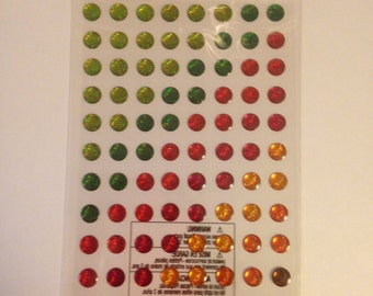 EK Success --  Harvest Dots -- 104 pieces -- self adhesive dimensional stickers -- NEW  (#529)