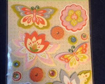 K & Company  -- Edamame Felt Stickers -- NEW -- self adhesive dimensional stickers  (#521)