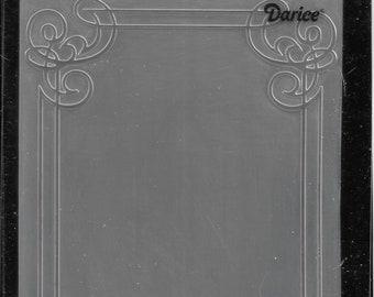 Darice Embossing Folder  --  New  --  Corner Scrolls  --  (#3917)