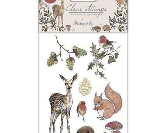 Craft Consortium -- Winter Woodland Stamp set  -- NEW  -- (#3570)