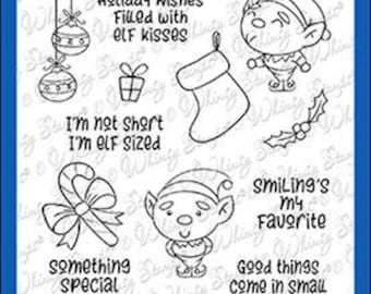 Whimsy Stamps --   Elf Sized   -- NEW -- (#4020)