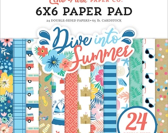6 x 6 Paper Pad ~ Dive Into Summer ~ Double sided NEW (#3727)