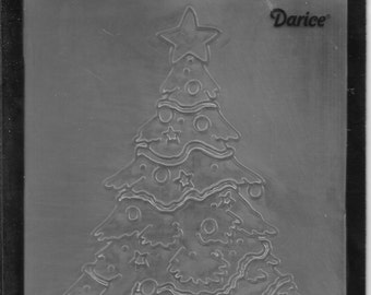 Darice Embossing Folder  --  New  -- Christmas Tree Decorated  --  (#3089)
