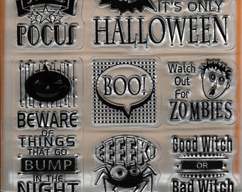 Stamp Set  --  NEW  --  It's Halloween  Inchie  Stamps --  (#2482)