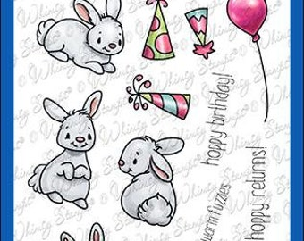 Whimsy Stamps --    A Bunny Birthday   -- NEW  -- (#4254)
