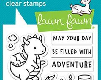 Lawn Fawn -- Little Dragon   -- NEW -- (#4183)