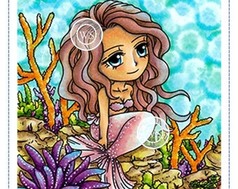 Whimsy Stamps -- Mermaid Meredith -- NEW -- (#2430)