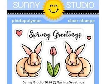 Sunny Studio -- Spring Greetings  -- NEW -- (#3140)