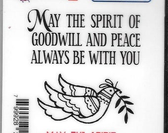 Deep Red Cling Stamps -- May the Spirit  -- NEW -- (#2821)