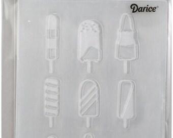 Darice Embossing Folder  --  New  --  Popsicle  --  (#3930)