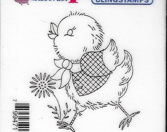 Deep Red Cling Stamps --   Spring Chicken  -- NEW -- (#3818)