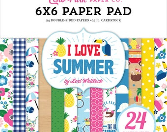 6 x 6 Paper Pad ~ I Love Summer ~ Double sided NEW (#3682)