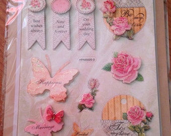 Craft n Craftin'  --  Wedding  -- NEW --  self adhesive dimensional stickers  --  (#1116)