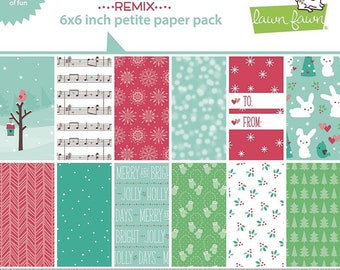 6 x 6 Paper Pad ~ Snow Day Remix  ~ Double sided NEW (#4194)