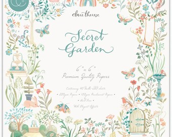 6 x 6 Paper Pad ~ Secret Garden  ~ Double sided  - NEW (#4283)