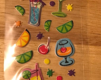 Momenta - Mini Puffy cocktails  --  drinks - NEW - after 5 stickers (#3086)