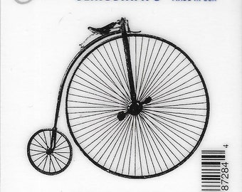 Deep Red Cling Stamps --    Penny Farthing     -- NEW -- (#3819)