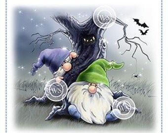 Whimsy Stamps --  Gnome Haunted Forest     -- NEW -- (#4102)