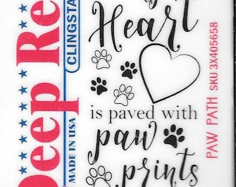 Deep Red Cling Stamps --  Paw Path -- NEW -- (#2939)
