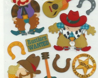 EK Success  -- Wild West  --  16 pieces -- self adhesive stickers  --   NEW  --  (#1211)