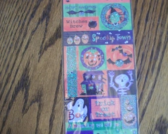 American Traditional Designs  --  Embossed Halloween Stickers  --  NEW  --  (#701)  --  Spookytown Embossed