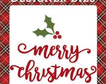 Echo Park - Merry Christmas & Holly Die set - NEW  (#4071)