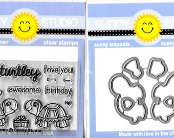 Sunny Studio --  Turtley Awesome Stamp/Die Combo -- NEW -- (#3146)