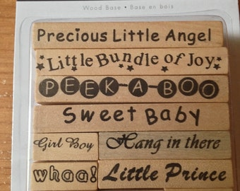 Bundle Of Joy Stamp Set  --   NEW  -- Wood Mounted Stamps --  Baby theme   (#2073)