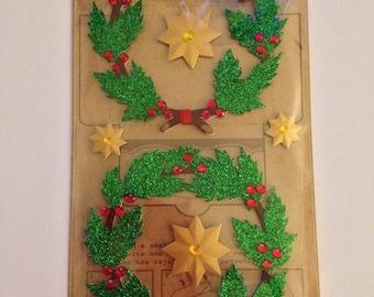Jolee's Boutique -- Glitter Christmas Wreaths -- NEW -- (#1839) Christmas