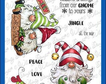Whimsy Stamps --    Gnome for Christmas   -- NEW  -- (#4097)