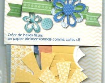 Little Yellow Bicycle --  Paper Crafting Kit  --  Flowers and Banners  --   (61 pieces) --   NEW -- (#1270)