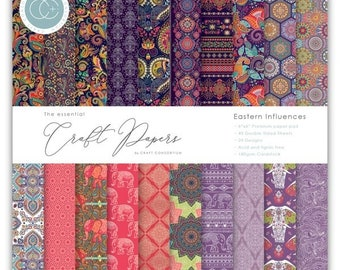 6 x 6 Paper Pad ~ Eastern Influences  ~ Double sided  - NEW (#4281)
