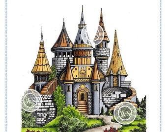 Whimsy Stamps -- Castle -- NEW -- (#2875)