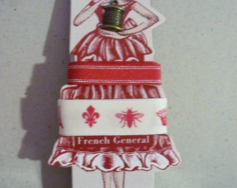 Jolee's Boutique Brand -- French General -- Metallic and Icons Ribbons Set -- NEW (#1198)