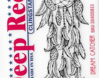 Deep Red Cling Stamps --   Dream Catcher  -- NEW -- (#3233)
