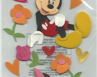 EK Success Brand --  Disney's -- Mickey & Minnie  --  Dimensional Stickers   --   NEW  (#629)