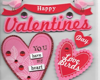Me & My Big Ideas Brand -- Dimensional Embellishments  -- Happy Valentine's Day  --  NEW  (#1682)