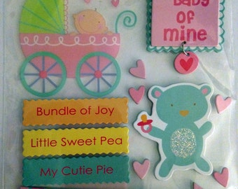 Me & My Big Ideas Brand -- Dimensional Embellishments --  Sweet Baby -- NEW (#1827)