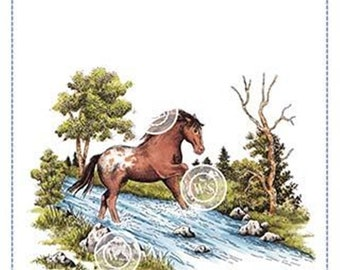Whimsy Stamps --   Horse Scene  -- NEW -- (#3221)