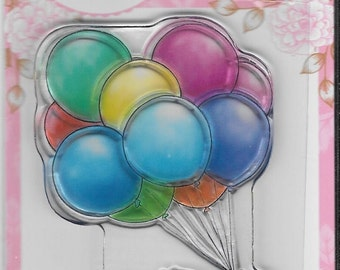 Wild Rose Studio Clear Stamp -- NEW -- Bunch of Balloons -- (#2435)