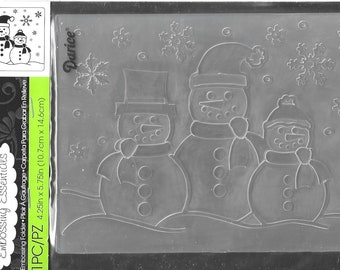 Darice Embossing Folder -- New -- Snowman Family  -- (#3112)
