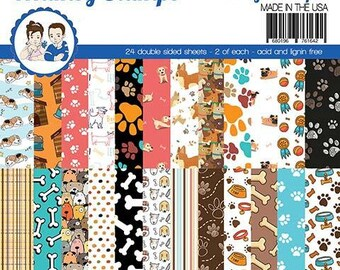 6 x 6 Paper Pad ~   Pets Woof    ~ Double sided NEW (#3884)