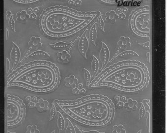 Darice Embossing Folder -- New -- Paisley Background  -- (#3109)