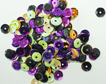 Clear Scraps -- Sequins  -- SPOOKY -- NEW  (#3543)