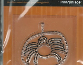 NEW --  Imaginisce Brand -- Spooky Town Collection --  Spider --  Acrylic Stamp  (#052)