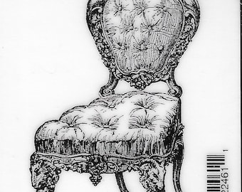 Deep Red Cling Stamps --     Victorian Velvet Chair    -- NEW -- (#3810)