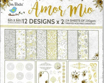 6 x 6 Paper Pad ~ Amor Mio ~ Double sided ~ NEW (#3746)