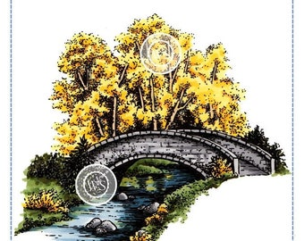 Whimsy Stamps -- Bridge Over Water -- NEW -- (#2883)