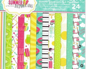 6 x 6 Paper Pad ~  Summer Daydreams  ~ Double sided NEW (#3659)