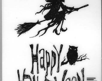 Deep Red Cling Stamps -- Halloween Witch  -- NEW -- (#2486)